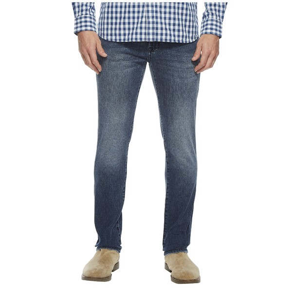 リバプール メンズ デニムパンツ ボトムス Slim Straight in Comfort Stretch Denim in Southaven Mid Blue Southaven Mid Blue