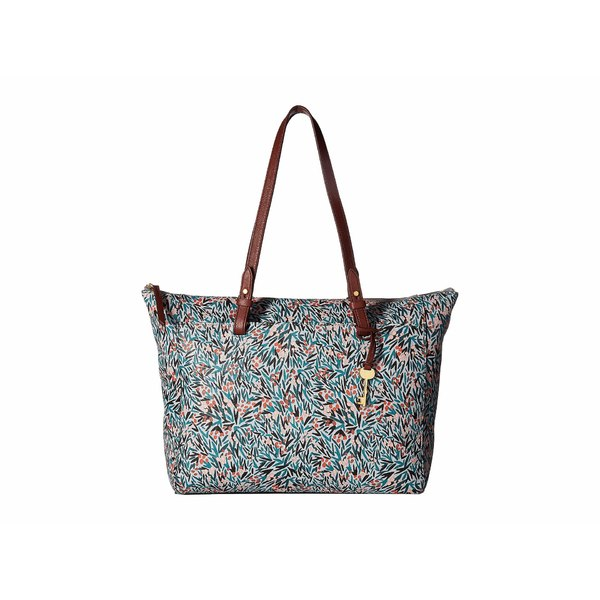 5cce1b6669f8 フォッシル レディース ハンドバッグ バッグ Rachel Top Zip Tote Blue Floral