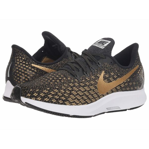 ナイキ レディース スニーカー シューズ Air Zoom Pegasus 35 Black/Metallic Platinum/Wheat Gold