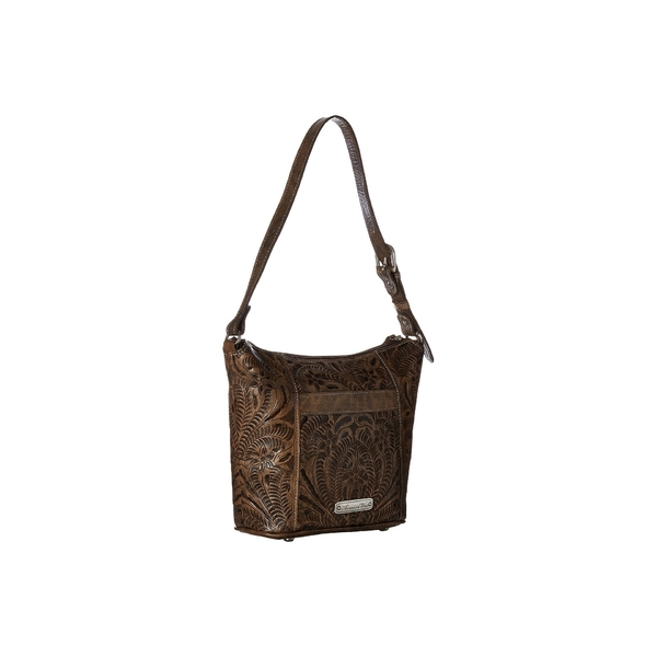 af3fe6618aaf Zip Country Hill バッグ ハンドバッグ レディース アメリカンウェスト Top Brown/Sand Charcoal  Distressed Tote Bucket-ハンドバッグ - embroitique.com