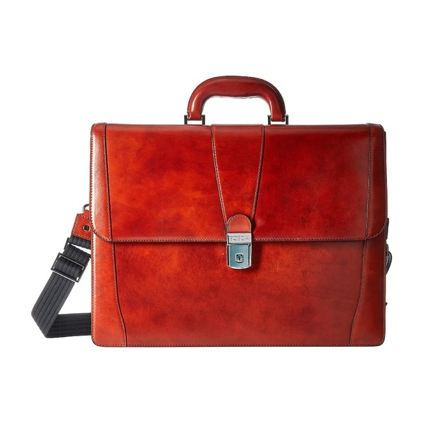 ボスカ メンズ ビジネス系 バッグ Old Leather Collection - Double Gusset Briefcase Cognac Leather