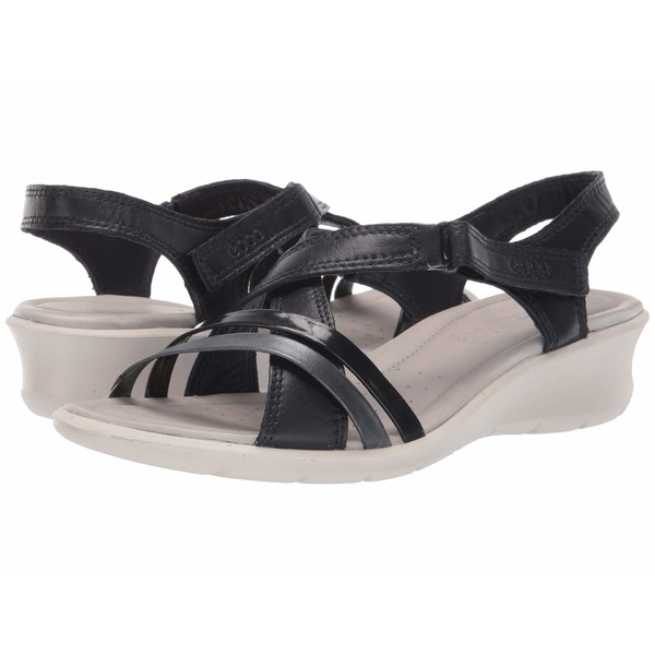 エコー レディース ヒール シューズ Felicia Sandal Night Sky/Night Sky/Black Cow Leather/Cow Leather/Cow Leather