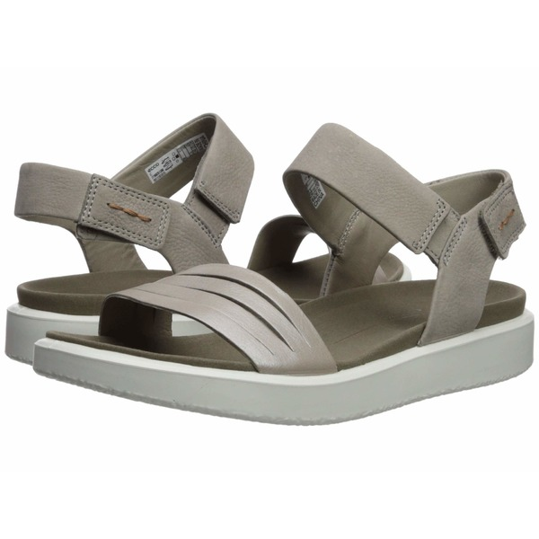 エコー レディース ヒール シューズ Flowt Strap Sandal Moonrock Silver/Warm Grey Metallic Cow Leather/Cow Nubuck