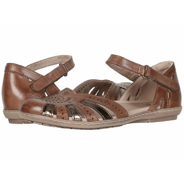 アース レディース サンダル シューズ Cahoon Almond Eco Calf/Bronze Metallic Eco Calf