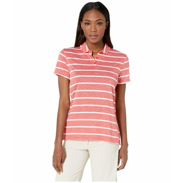 ナイキ レディース シャツ トップス Dry Polo Short Sleeve Stripe University Red/Flint Silver
