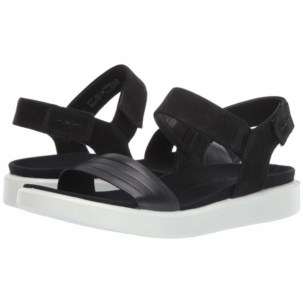 エコー レディース ヒール シューズ Flowt Strap Sandal Black/Black Cow Leather/Cow Nubuck