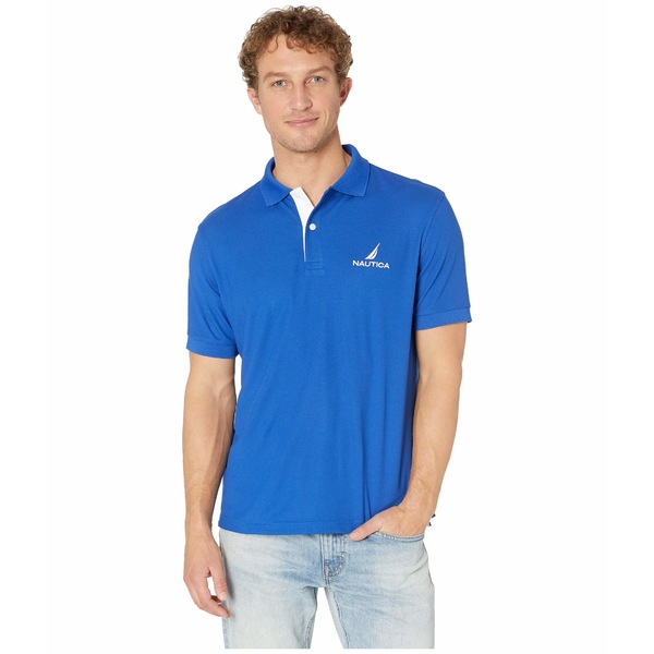 Nautica Mens Classic Fit Solid Navtech Polo