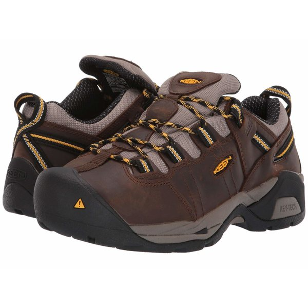 キーン レディース スニーカー シューズ Detroit XT Int. Met Steel Toe Cascade Brown/Goldenrod