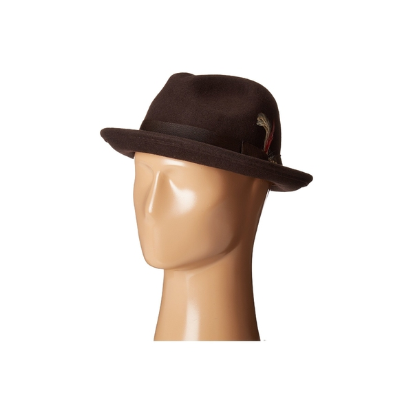 スカラ メンズ 帽子 アクセサリー All Season Snap Brim with Grosgrain Band Chocolate
