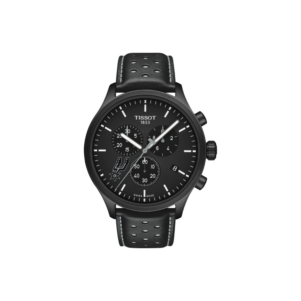 ティソット メンズ 腕時計 アクセサリー Chrono XL NBA Chronograph San Antonio Spurs - T1166173605104 Black/Black/Silvered