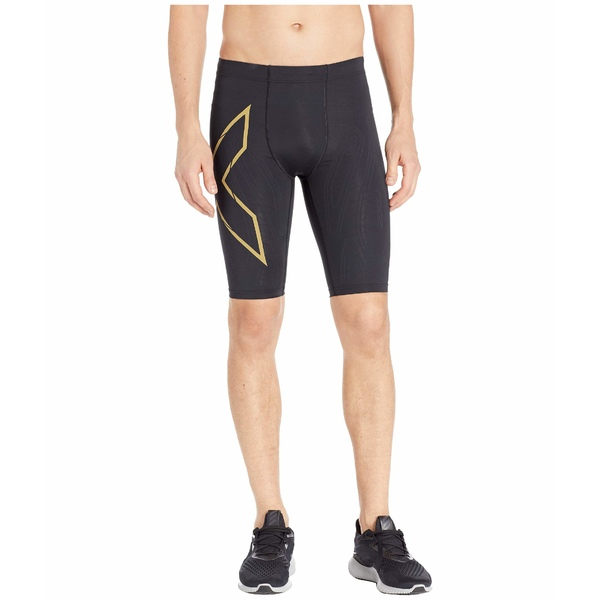 2XU メンズ ハーフ&ショーツ ボトムス MCS Run Compression Shorts Black/Gold Reflective