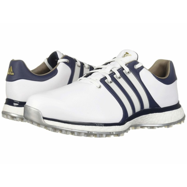アディダス メンズ スニーカー シューズ Tour360 XT Spikeless Footwear White/Collegiate Navy/Gold Metallic