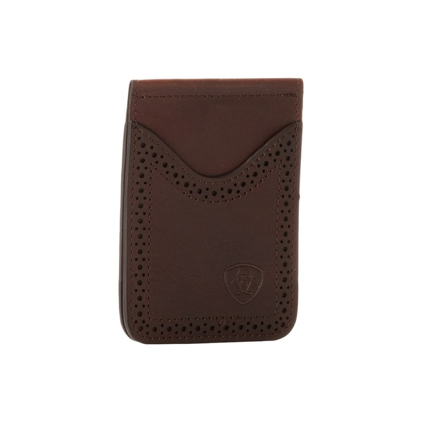 アリアト メンズ 財布 アクセサリー Ariat Shield Perforated Edge Money Clip Dark Copper