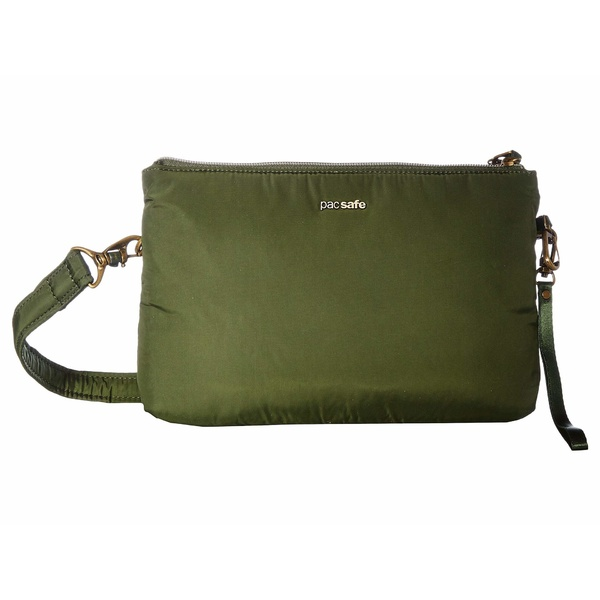 パックセーフ メンズ ビジネス系 バッグ Stylesafe Anti-Theft Double Zip Crossbody Kombu Green