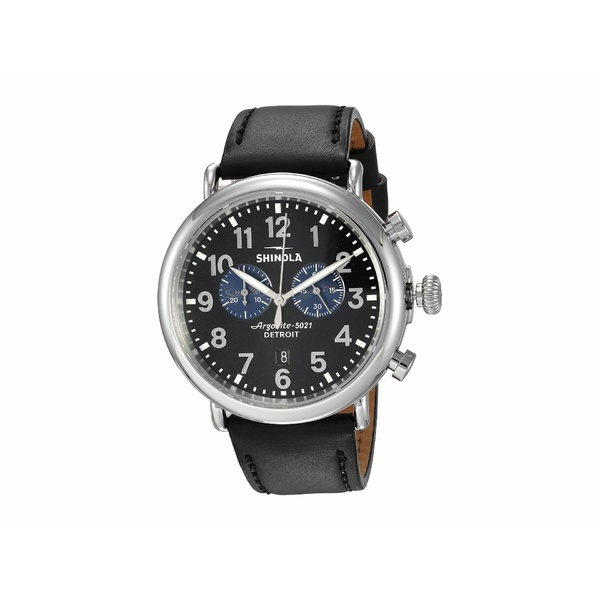 シノラ メンズ 腕時計 アクセサリー The Runwell Chronograph 47mm - 20109242 Black/Black/Blue Eyes