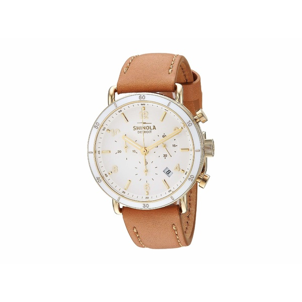 シノラ レディース 腕時計 アクセサリー The Canfield Sport Chronograph 40mm - 20089885 Camel Leather Strap/Soft White Dial
