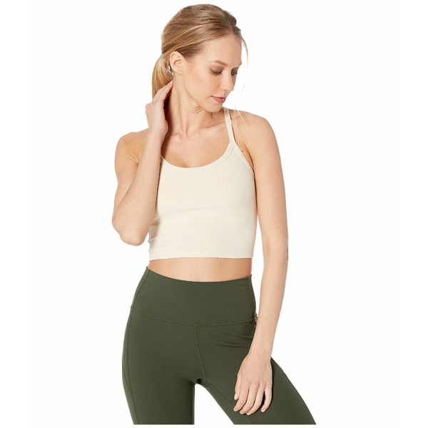 ビヨンドヨガ レディース シャツ トップス Spacedye Slim Racerback Cropped Tank Top Sandstone/Almond