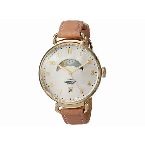 シノラ レディース 腕時計 アクセサリー The Canfield Day & Night 38mm - 20089879 Blush Leather Strap/White Mother-of-Pearl Dial
