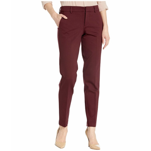 リバプール レディース カジュアルパンツ ボトムス Kelsey Slim Leg Trousers in Super Stretch Ponte Knit Cocoa Burgundy