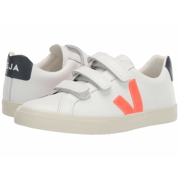 ヴェジャ レディース スニーカー シューズ 3-Lock Logo Extra White/Orange Fluo/Nautico Leather