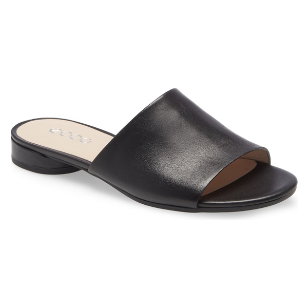 エコー レディース サンダル シューズ ECCO Flat II Slide Sandal (Women) Black Leather