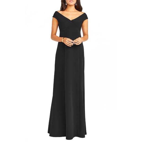 ウミーユアムーム レディース ワンピース トップス Show Me Your Mumu Zurich Front Knot Gown Black Stretch Crepe