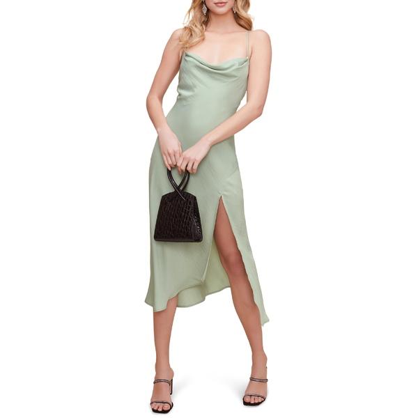 アストール レディース ワンピース トップス ASTR the Label Cowl Neck Midi Dress Sage
