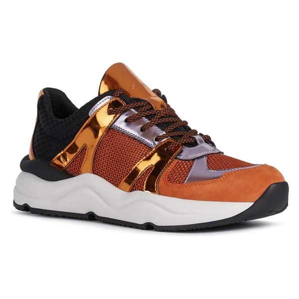 ジェオックス レディース スニーカー シューズ Geox Topazio Sneaker (Women) Orange/ Dark Orange