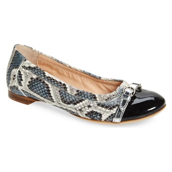 エージーエル レディース サンダル シューズ AGL Cap Toe Ballet Flat (Women) Blue Snake Print