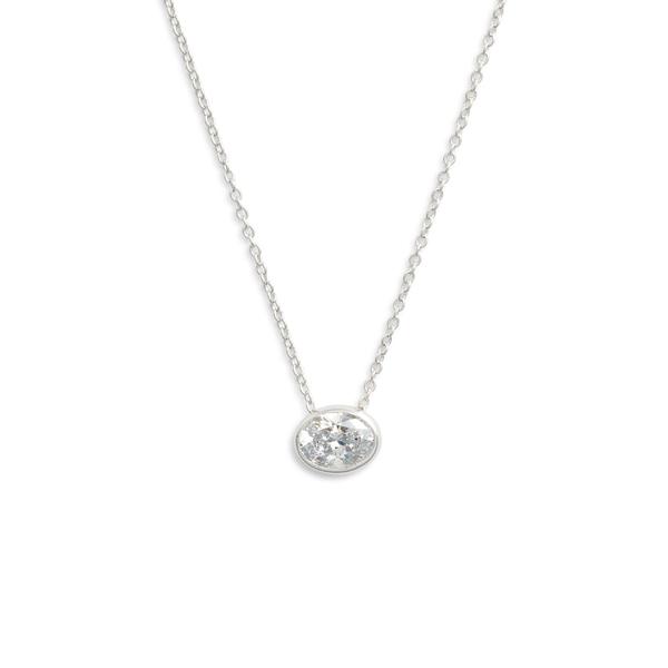 ラフォン レディース ネックレス・チョーカー・ペンダントトップ アクセサリー Lafonn Bezel-Set Cushion-Cut Choker Necklace Silver/ Clear