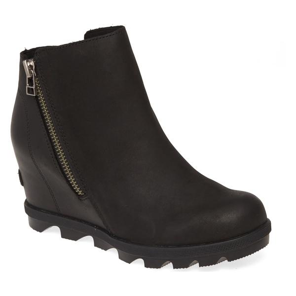 ソレル レディース シューズ ブーツ&レインブーツ Black Leather 全商品無料サイズ交換 ソレル レディース ブーツ&レインブーツ シューズ SOREL Joan of Arctic II Waterproof Wedge Boot (Women) Black Leather