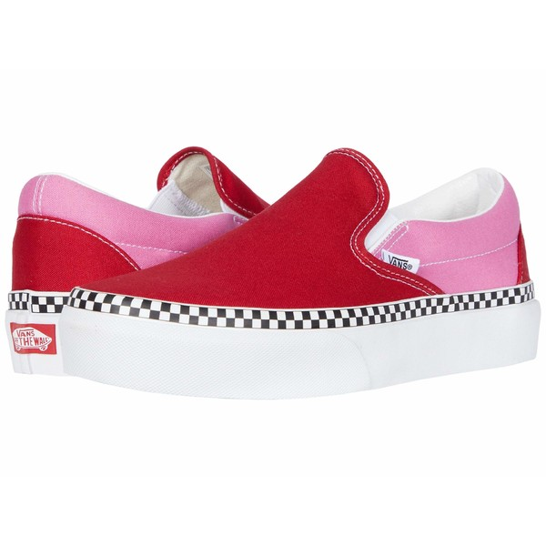 バンズ メンズ スニーカー シューズ Classic Slip-On Platform (Two-Tone) Chili Pepper/Fuchsia Pink