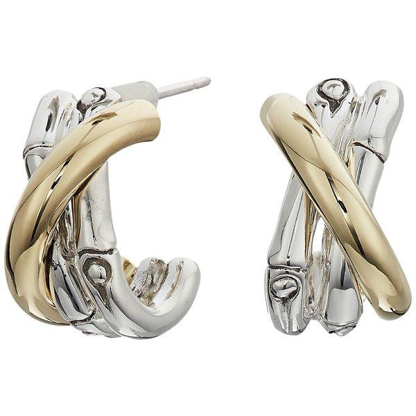 【代引き不可】 ジョン・ハーディー レディース ピアス&イヤリング アクセサリー Small Bamboo Small J J 18K Hoop Earrings in 18K Gold Silver, ハズチョウ:3962a9ab --- beautyflurry.com