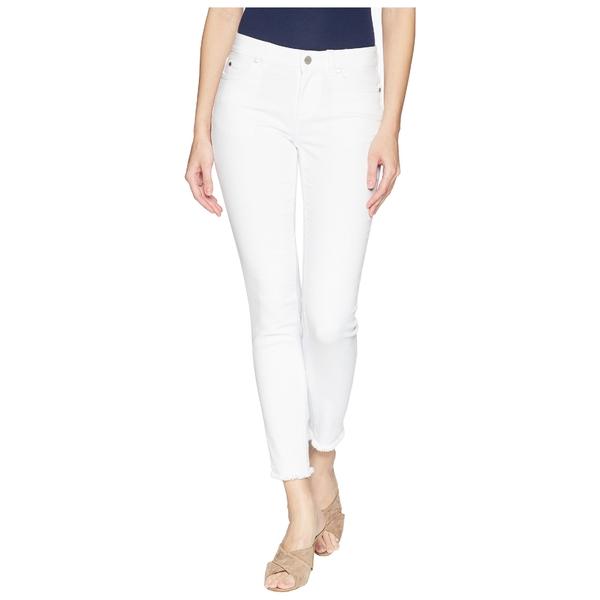 ヴィンスカムート レディース デニムパンツ ボトムス Five-Pocket Frayed Hem Ankle Jeans in Ultra White Ultra White