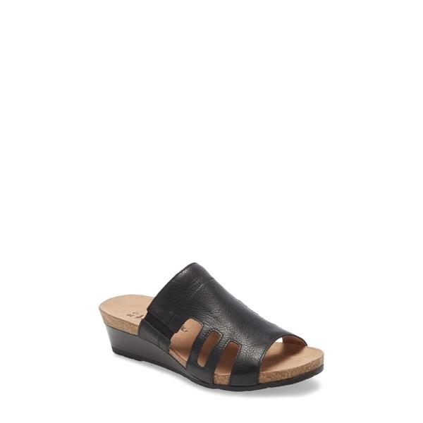 ナオト レディース サンダル シューズ Carriage Slide Sandal Soft Black Leather