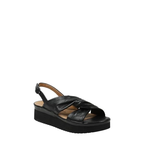 ラモールドピード レディース サンダル シューズ L'Amour de Pieds Amiens Slingback Platform Sandal Black Leather