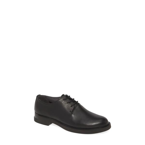 カンペール レディース サンダル シューズ Iman Derby Flat Black Leather