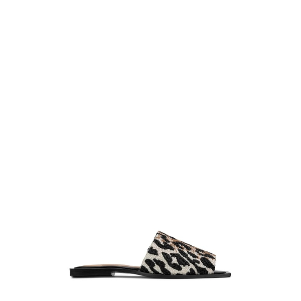 ガニー レディース サンダル シューズ Square Toe Slide Sandal Leopard