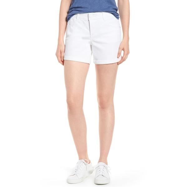 ウィットアンドウィズダム レディース カジュアルパンツ ボトムス Ab-Solution Cuffed White Shorts Optic White