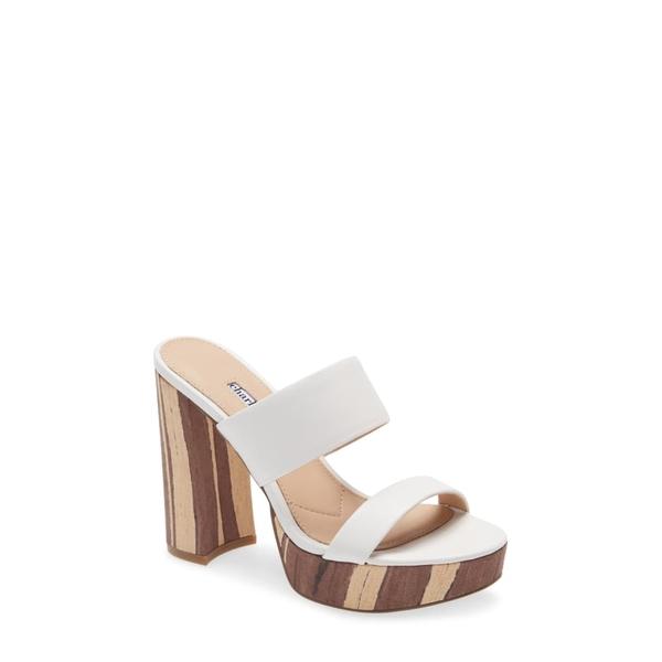 チャールズ・デイビッド レディース サンダル シューズ Jinx Platform Slide Sandal White Leather