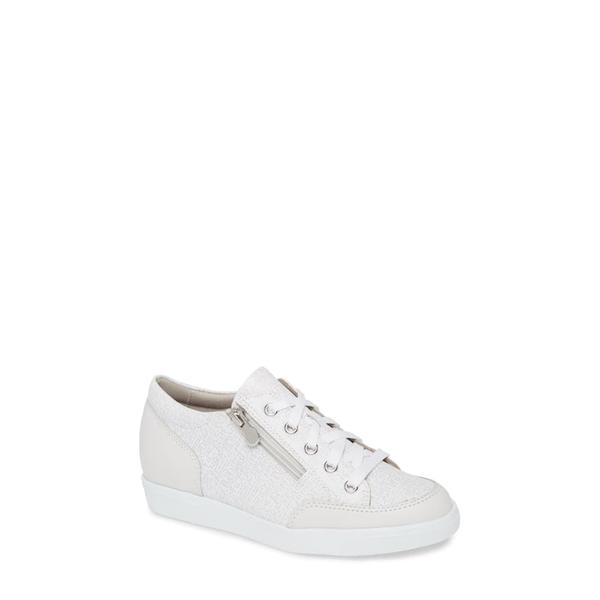 ムンロー レディース スニーカー シューズ Gabbie Sneaker White Leather