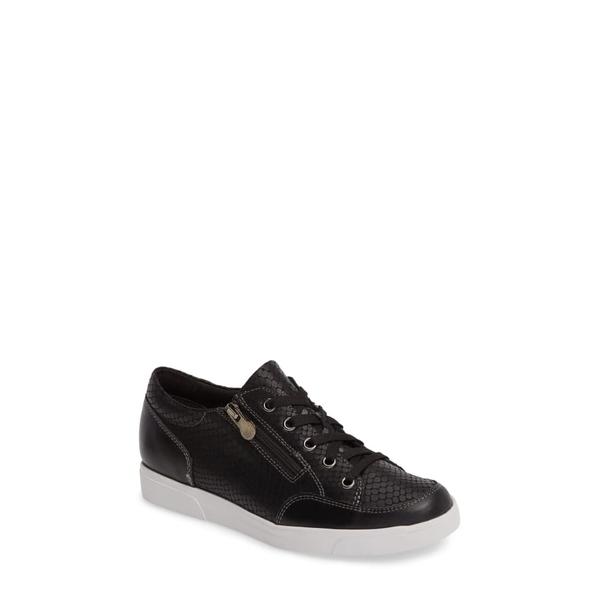 ムンロー レディース スニーカー シューズ Gabbie Sneaker Black Snake Print Leather