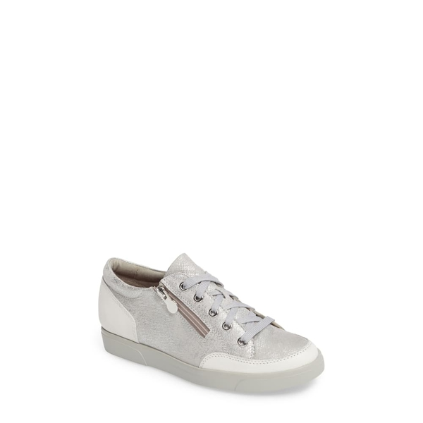 ムンロー レディース スニーカー シューズ Gabbie Sneaker White Metallic Printed Leather