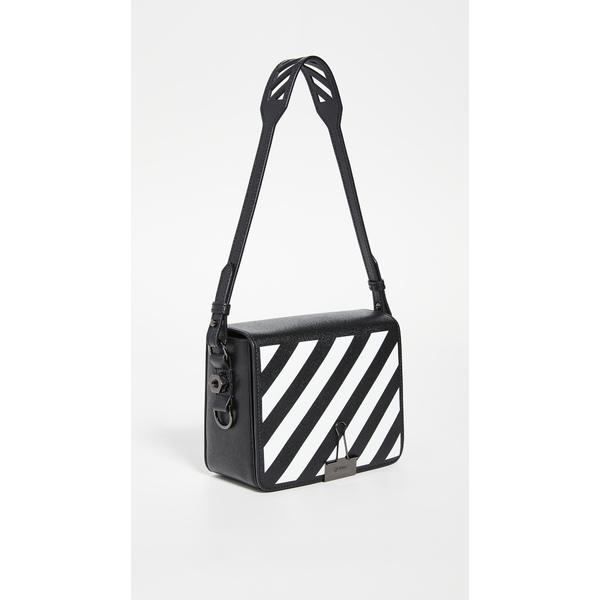 オフホワイト レディース ショルダーバッグ バッグ Diagonal Flap Bag Black/White