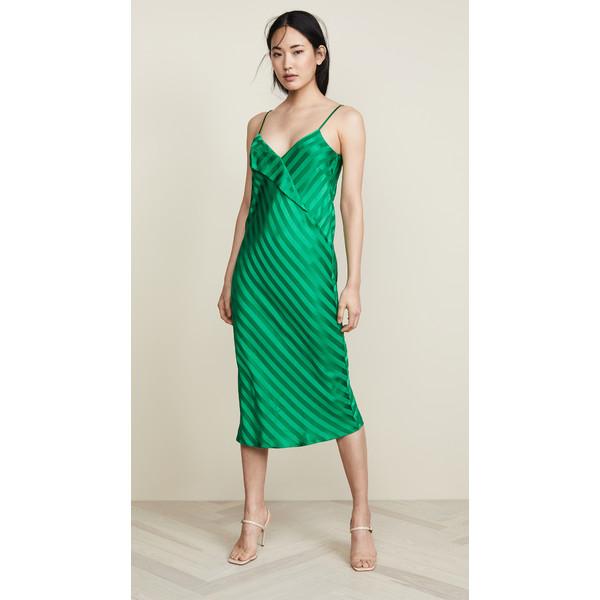 ミシェルメゾン レディース Green ワンピース トップス Slip Dress レディース with Slip Lapel Green, Rakuten BRAND AVENUE Outlet:23cf673b --- officewill.xsrv.jp