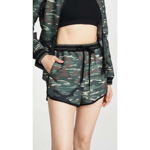 ジアップサイド レディース カジュアルパンツ ボトムス Army Camo Linen Shorts Army Camo
