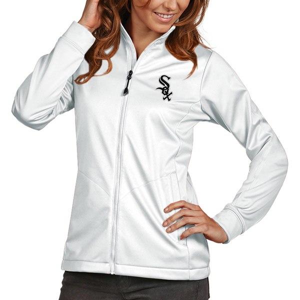 アンティグア レディース ジャケット&ブルゾン アウター Chicago White Sox Antigua Women's Golf FullZip Jacket Black