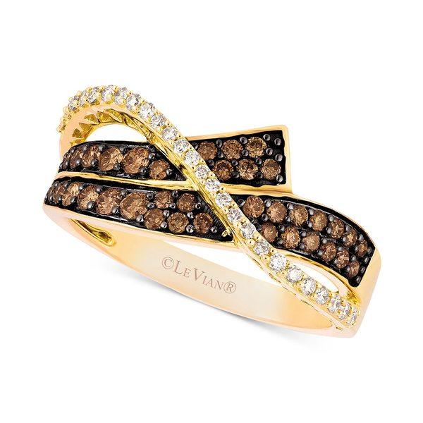 お待たせ! ルヴァン レディース リング アクセサリー Chocolatier® Diamond Overlap Statement Ring(5/8 ct. t.w.) in 14k Gold Rose Gold, クロイソシ c2f4e38e