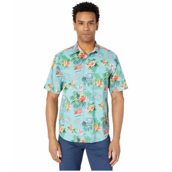 トッミーバハマ メンズ シャツ トップス Aloha From Paradise Short Sleeve Aqua Aloha