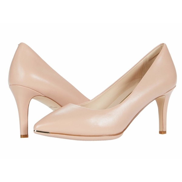 コールハーン レディース ヒール シューズ Grand Ambition Pump (75 mm) Mahogany Rose Leather/Dark Natural Edge Tonal/Brushed Gold